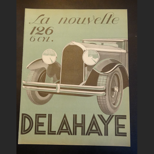 delahaye 126 catalogue publicitaire chez depanoto nogent le rotrou france. Black Bedroom Furniture Sets. Home Design Ideas